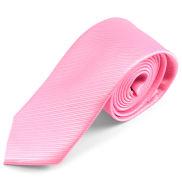 Corbata de microfibra rosa
