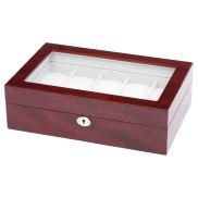 Caja de madera de cerezo para 10 relojes