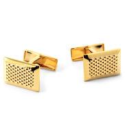 Złote spinki do mankietów w kropki