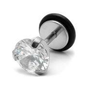 Stud Σκουλαρίκι Στρογγυλό Cubic Zirconia 8mm