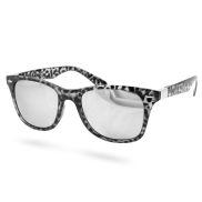 Szare okulary przeciwsłoneczne retro Leopard