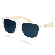 White Square Wood Smoke Polarized Sunglasses