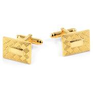 Butoni aurii cu model
