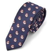 Cravate bleue Le Père Noël