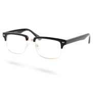 Bold & Black Clear Vintage Glasses