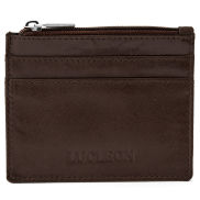 Brown Multi Zip Card Holder with RFID Blocker