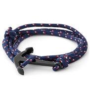 Blue/Black Anchor Bracelet