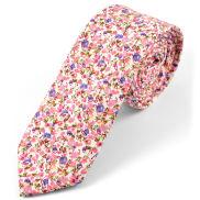 Corbata rosada y azul abstracto
