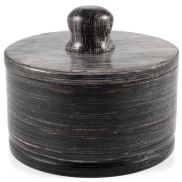 Black Pakkawood Barber Bowl