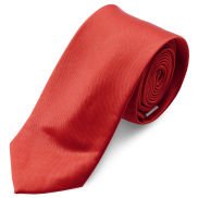 Corbata básica rojo brillante 6 cm