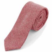 Ružová bavlnená kravata