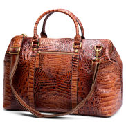 Alligator Looking Leather Travel Bag