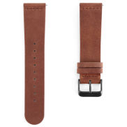 Brown Leather & Gray Buckle Watch Strap