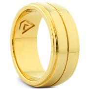 Jordan 925 Zilveren Goudvergulde Ring