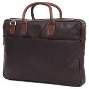 Тясна кожена бизнес чанта Montreal 15