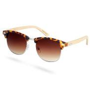 Gafas de sol de carey y madera marrón degradado