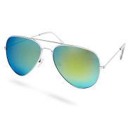 Zlato-modré polarizačné okuliare Aviator