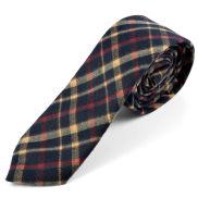Cravate en laine noire Retro