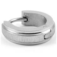 Einfacher runder Ohrring in Silber
