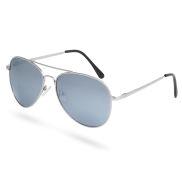 Gafas de sol aviador espejadas en plata