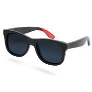 Schwarze Polarisierte Skateboard Holz Sonnenbrille