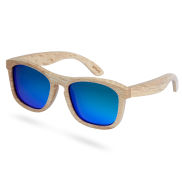 Blue Wood Polarized Sunglasses