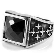 Ατσάλινο Μεσαιωνικό Δαχτυλίδι από Ζιρκονία