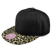 Black / Olive Green Leopard Snapback Cap