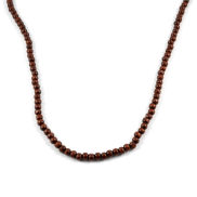 Brown Wooden Pearl Necklace