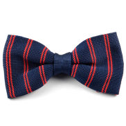 Papillon blu navy a righe rosse