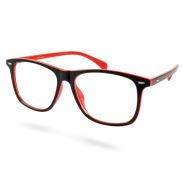 Red & Black Retro Glasses