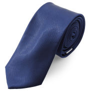 Fényes tengerészkék nyakkendő - 6 cm