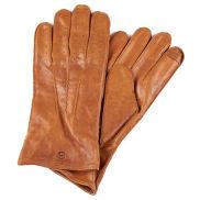Tankleurige Geperforeerde Lederen Handschoenen