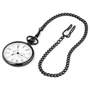 Black & White Time Keeper Pocket Watch