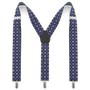 Rose Window Patterned Suspenders