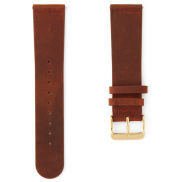 Orange Brown & Gold Buckle Watch Strap