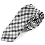 Corbata a cuadros en blanco y negro