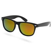 Verspiegelte Polarisierte Sonnenbrille In Schwarz & Orange