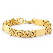 Massiccio braccialetto placcato in oro