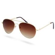 Gafas de sol aviador degradadas dorado y marrón