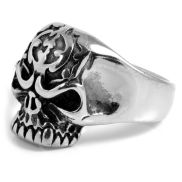 Ghost Skeleton Skull Steel Ring