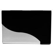 Acél-fekete hullámos bankkártyatartó