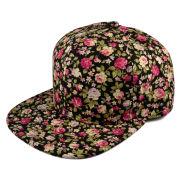 Květovaná Snapback kšiltovka s růžemi