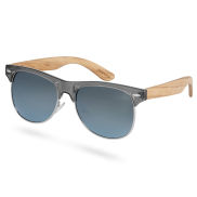 Graue Polarisierte Zebraholz Sonnenbrille