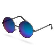 Runde Sonnenbrille Mit Blaugrünen Sonnenbrillengläsern