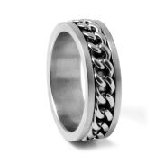 Masculine Chain Steel Ring