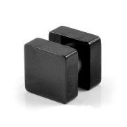 Boucle d'oreille aimant forme carrée 8 mm