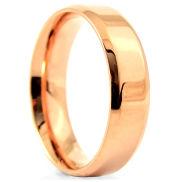 Stalowa obrączka w kolorze różowego złota
