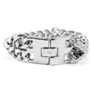 Silver Double Chain Steel Bracelet