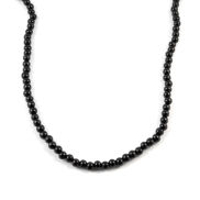 Black Wooden Pearl Necklace
